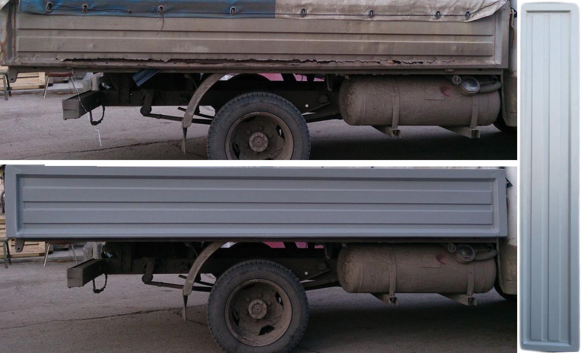 Накладка на боковой борт 3,17 м. левый или правый (пластиковая) для а/м Газель 3302