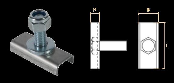 Крепежный комплект TK1390 с гайками и болтами для корпуса из алюминия для боковой защиты