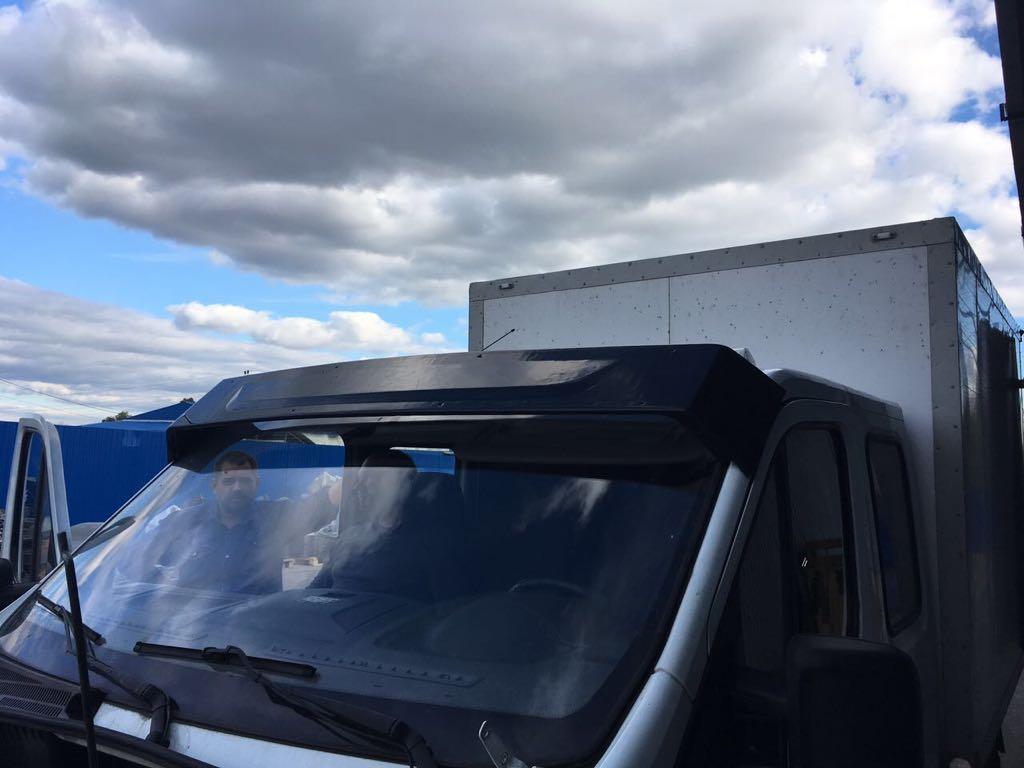 Козырек солнцезащитный на Газель Next без сверления крыши