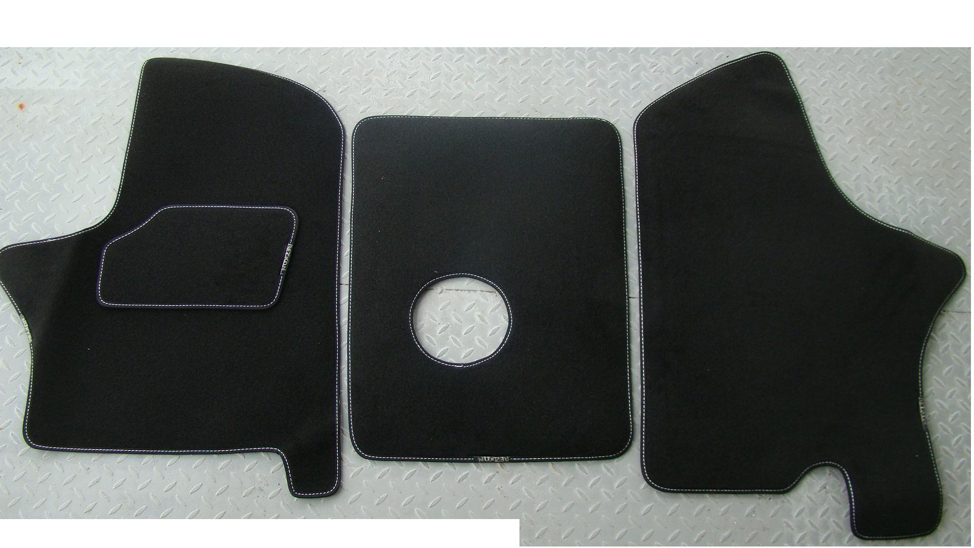 Ковры ворсовые на полимерной основе для автомобиля Газель NEXT. (Черные)
