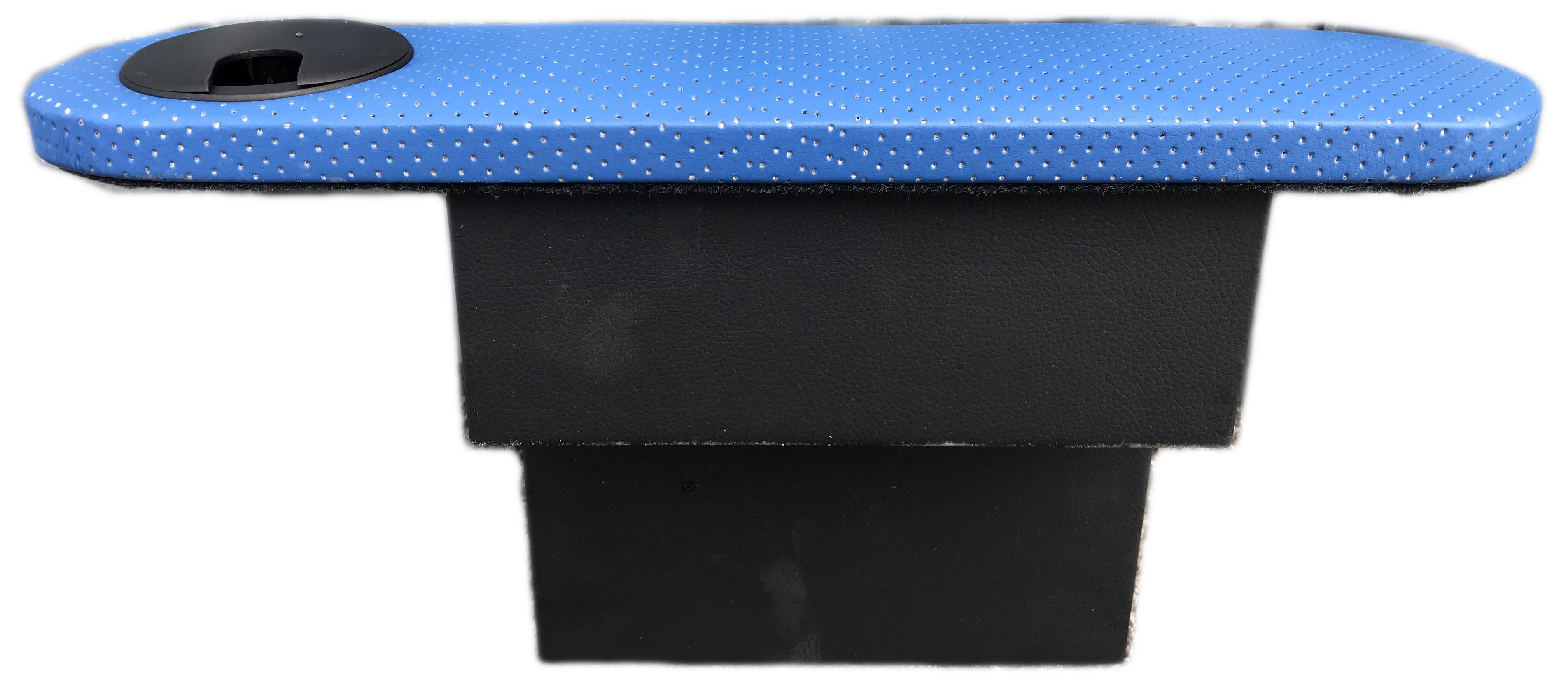 Подлокотник Рич с подстаканником правый синий