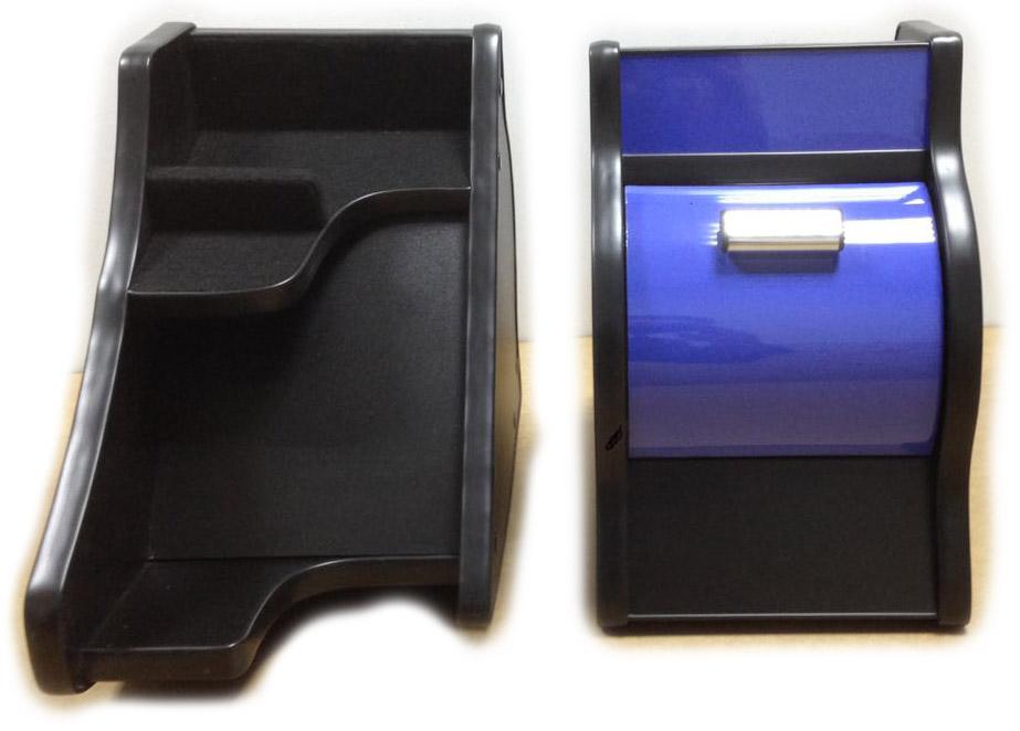 Консоль ЭЛЕГАНТ на Газель Некст с ручкой кпп на панели (синий декор)