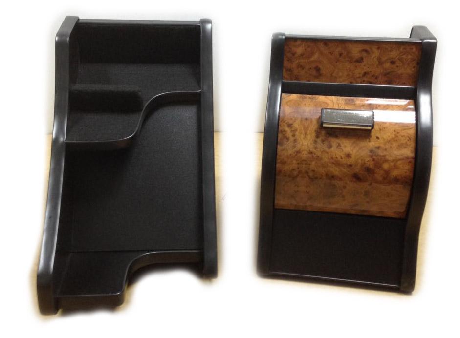 Консоль ЭЛЕГАНТ на Газель Некст с ручкой кпп на панели (светло коричневый декор)