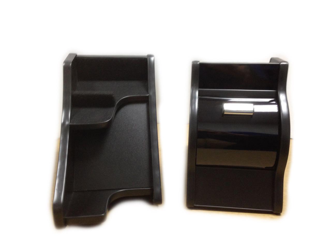 Консоль ЭЛЕГАНТ на Газель Некст с ручкой кпп на панели (черный декор)