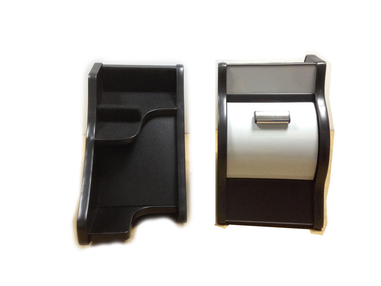 Консоль ЭЛЕГАНТ на Газель Некст с ручкой кпп на панели (серый декор