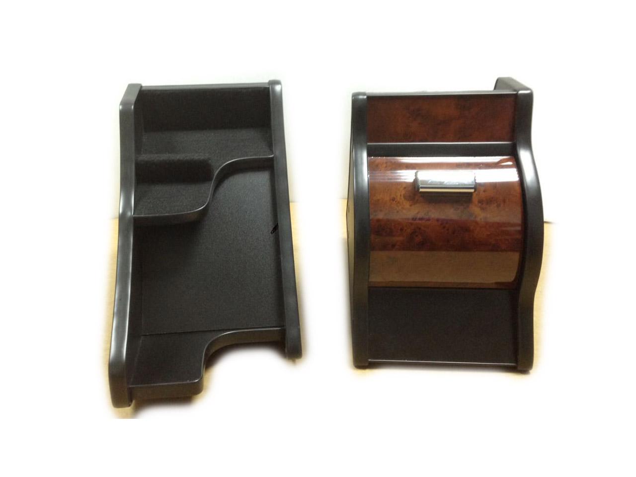 Консоль ЭЛЕГАНТ на Газель Некст с ручкой кпп на панели (темно коричневый декор)