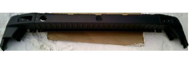 Бампер задний на Газель НЕКСТ цельнометаллический фургон (из 3 частей)