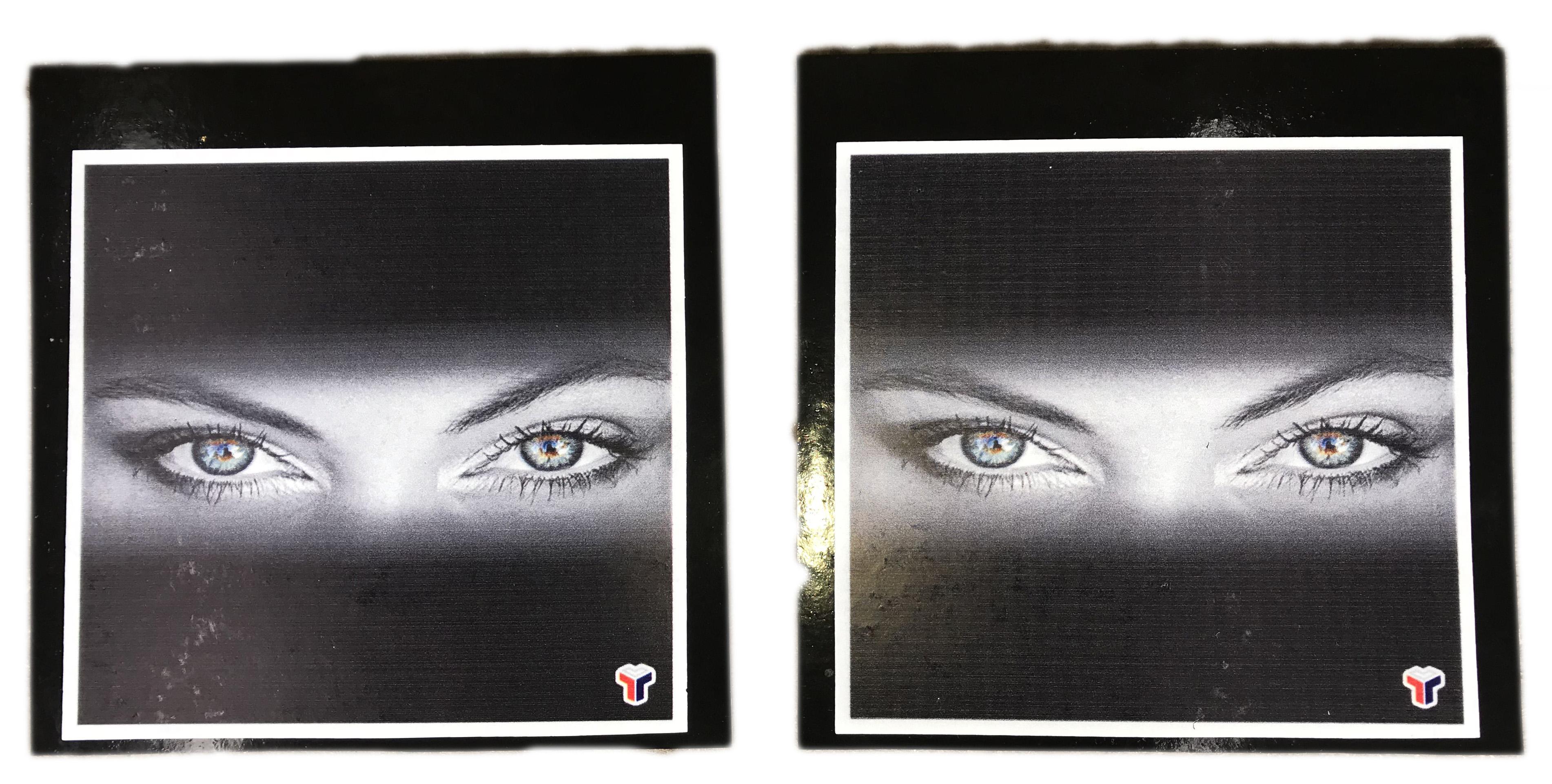 Комплект задних брызговиков «Глаза» 40×40