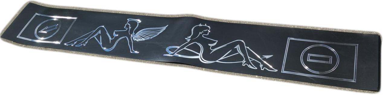 Брызговик длинномер «Ангел/Демон» 200*30 серебро