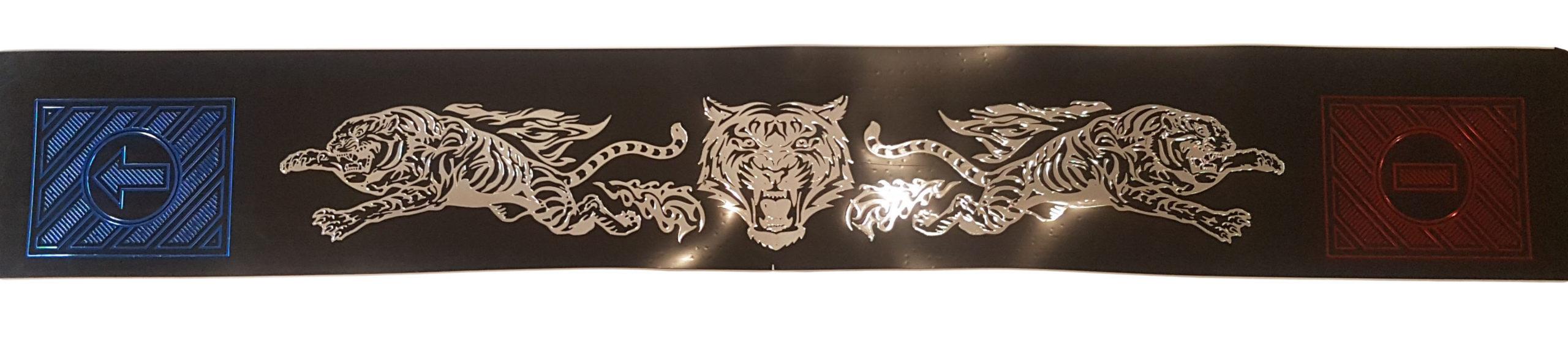 Защитная лента задних колес «Тигры с огнем»