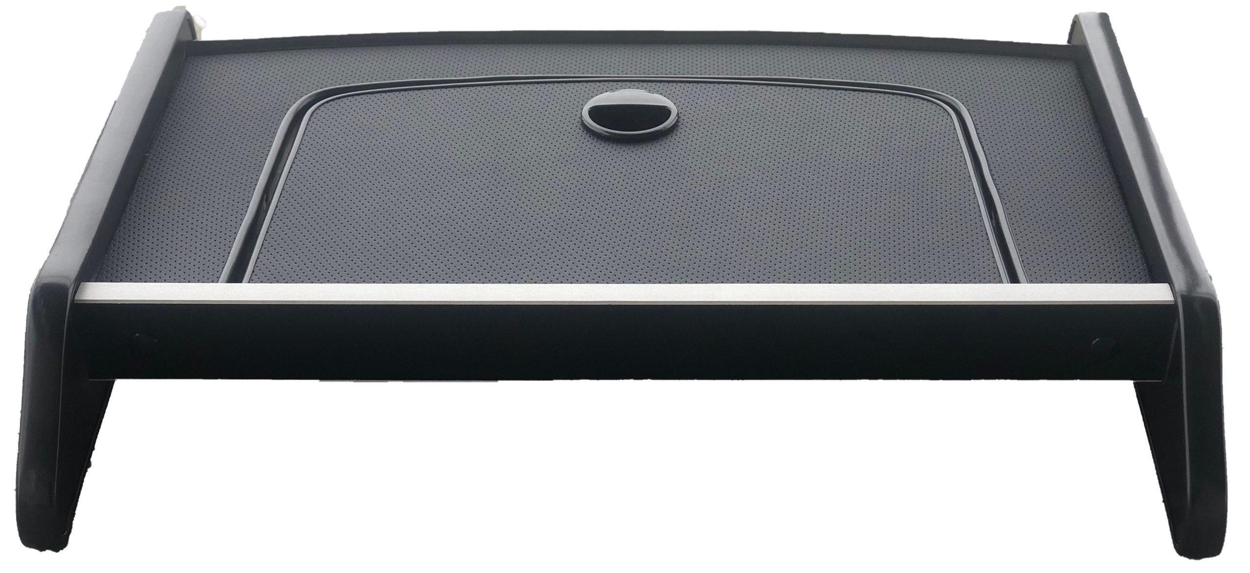 Столик на панель газели Бизнес с крышкой ( кожа) черный