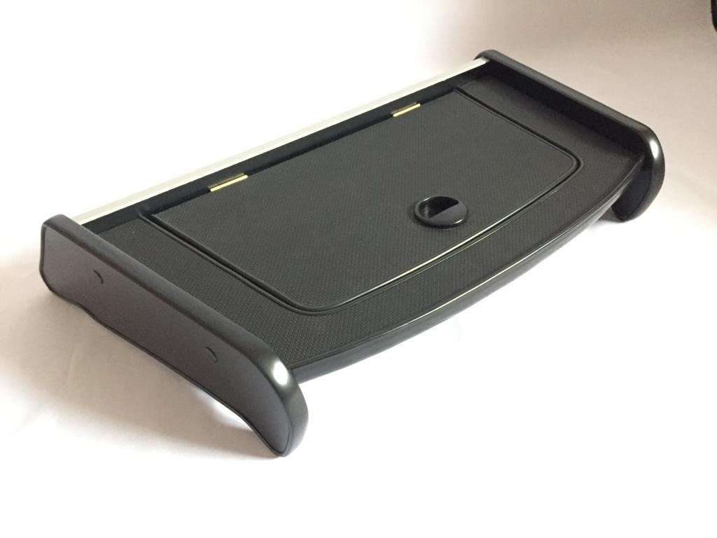 Столик на панель газель НЕКСТ с крышкой (кожа) черный
