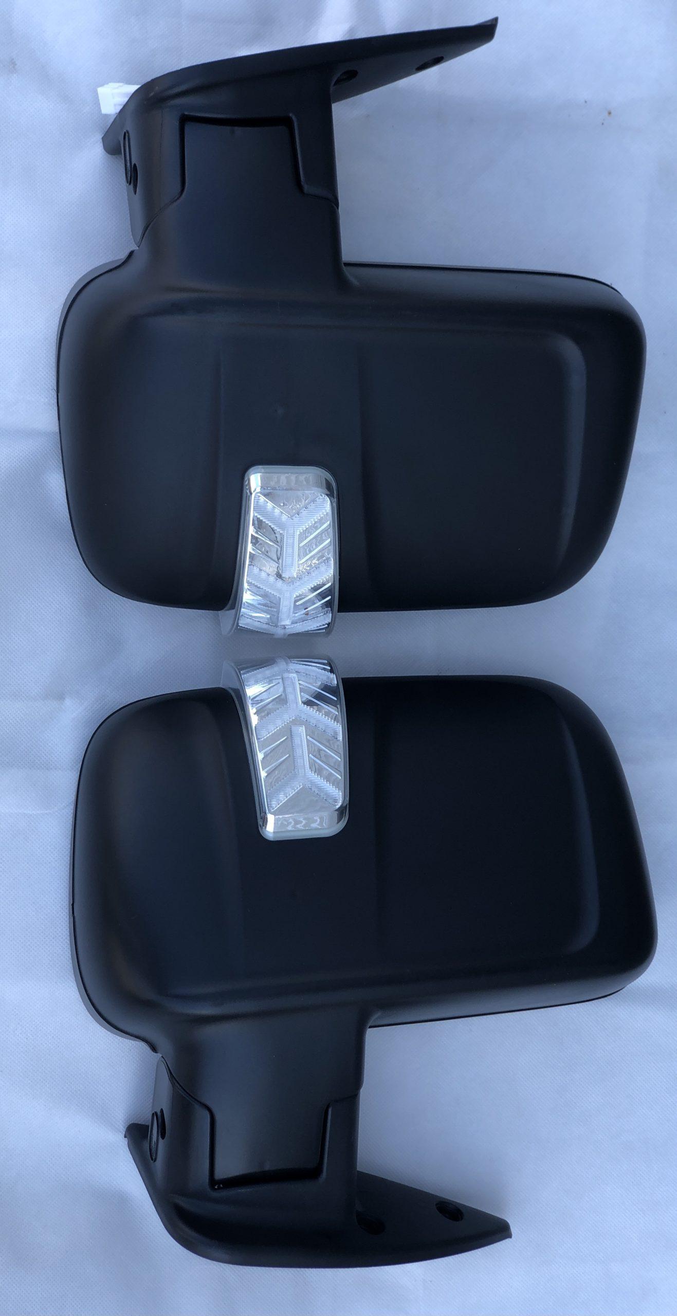 Комплект зеркал на газель Бизнес с БЕГАЮЩИМ повторителем и обогревом (с увеличенным углом обзора) ЧЕРНЫЙ МАТОВЫЙ